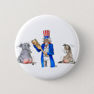 Uncle Sam Paddle 6 Cm Round Badge