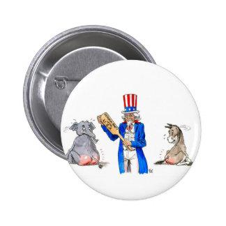 Uncle Sam Paddle 6 Cm Round Badge