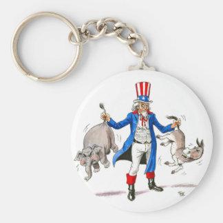 Uncle Sam Paddle Ad Merchandise Key Ring