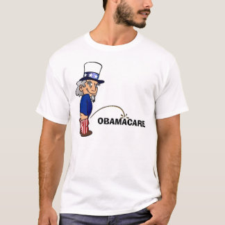 Uncle Sam peeing on Obamacare T-Shirt