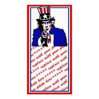 Uncle Sam Photo Greeting Card