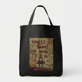 UNCLE SAM PIN NUMBER GROCERY TOTE BAG