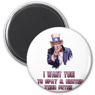 uncle sam pink 6 cm round magnet