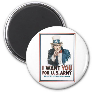 Uncle Sam Poster America I Want You For Magnet