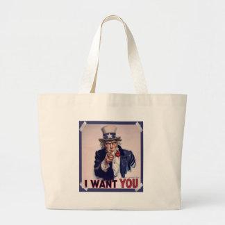 Uncle Sam Poster tote bag