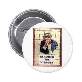 Uncle Sam POW-MIA Button