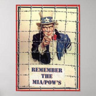 Uncle Sam POW-MIA Poster