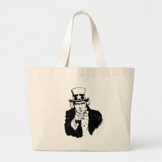 Uncle Sam Propaganda Portrait Tote Bag