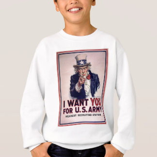 Uncle Sam Recruitment Poster Sweatshirt