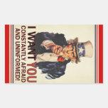 Uncle Sam Satire Sticker Set