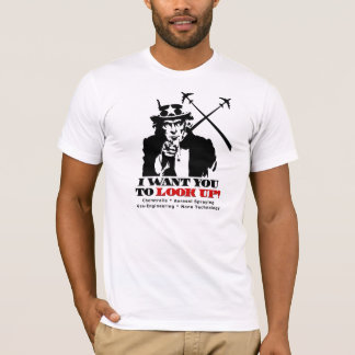 Uncle Sam says I Want You To Look Up T-Shirt