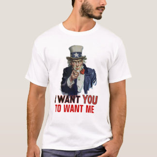 "Uncle Sam Says, ""Your Personal Message"" T-Shirt"