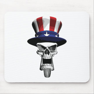 Uncle Sam Skull Mouse Pad