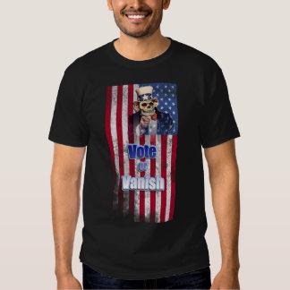 Uncle Sam Skull, Vote or Vanish, Patriotic Flag T Shirt