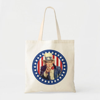 Uncle Sam Stars and Stripes Budget Tote Bag