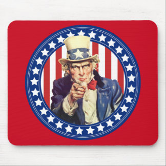 Uncle Sam Stars and Stripes Mouse Mat