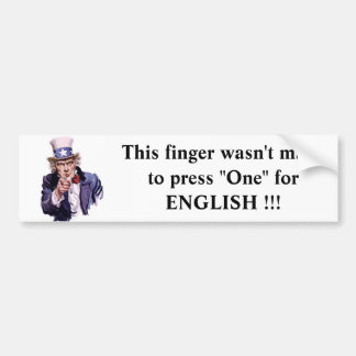 uncle-sam This finger wasn't made to press... Bumper Sticker