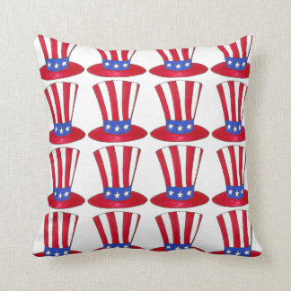 Uncle Sam Top Hat July 4th USA Patriotic America Cushion