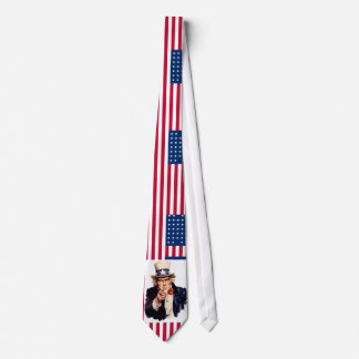 uncle sam - usa flag tie