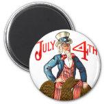 Uncle Sam Vintage July 4th Patriotic Magnet