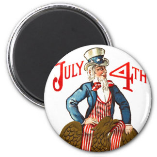 Uncle Sam Vintage July 4th Patriotic Magnet