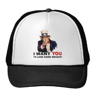 Uncle Sam WANT YOU LOSE WEIGHT Trucker Hat