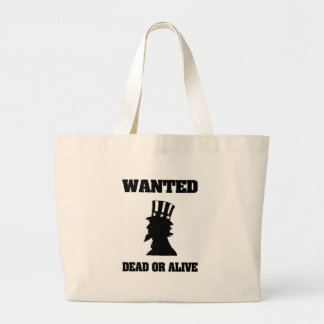 Uncle Sam Wanted Dead Or Alive Tote Bag