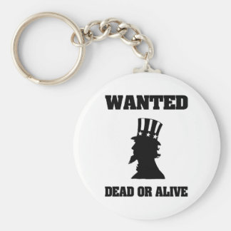 Uncle Sam Wanted Dead Or Alive Basic Round Button Key Ring
