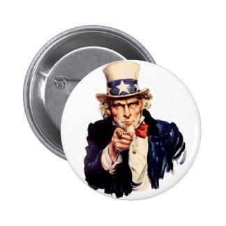 Uncle Sam Wants You! 6 Cm Round Badge