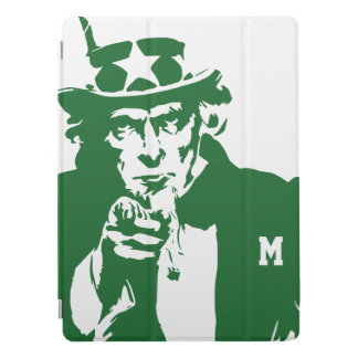 Uncle Sam Wants You. Green Silhouette. Patriot. iPad Pro Cover