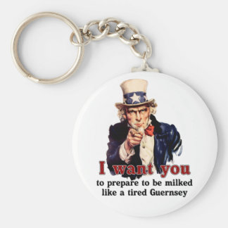 uncle Sam wants you Basic Round Button Key Ring