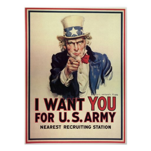 Uncle Sam Wants You Print