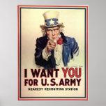 Uncle Sam Wants You Print