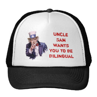 Uncle Sam Wants YOU to be Bilingual Cap