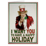 Uncle Sam wants YOU to have a Happy Holiday Greeting Card