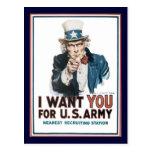 Uncle Sam Wants You World War 2 Postcard