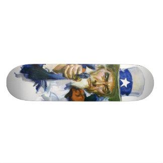 Uncle Sam with a GUN Custom Skateboard