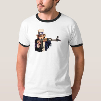 Uncle Sam With AK-47 T-Shirt