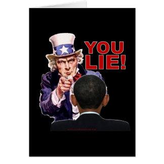Uncle Sam You Lie Card