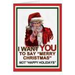 Uncle Santa Wants You Card