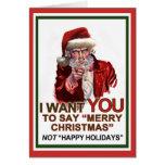 Uncle Santa Wants You Card