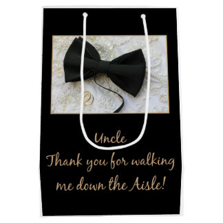Uncle    Thanks for Walking me down Aisle Medium Gift Bag