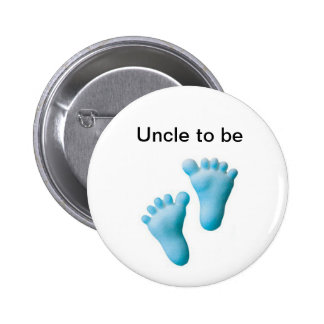 Uncle to be 6 cm round badge