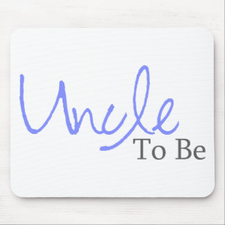 Uncle To Be (Blue Script) Mouse Pad