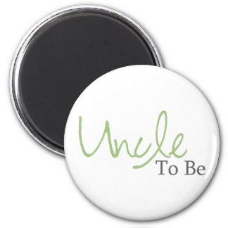 Uncle To Be (Green Script) 6 Cm Round Magnet