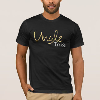 Uncle To Be (Yellow Script) T-Shirt