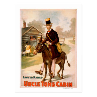 Uncle Tom's Cabin Man and Donkey Theatre Postcard