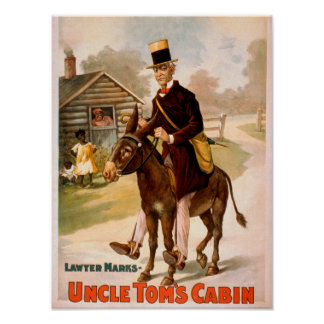 Uncle Tom's Cabin Man and Donkey Theatre Poster