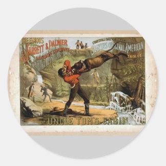 Uncle Tom's Cabin Vintage Theater Round Sticker