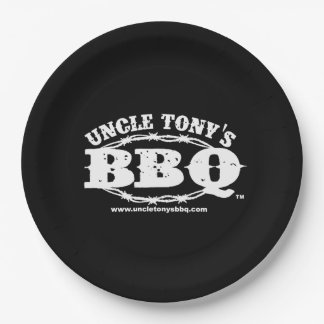 Uncle Tony's BBQ Paper Plates with Logo